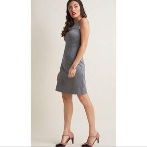 ModCloth Retro Sheath Gray Dress size Medium